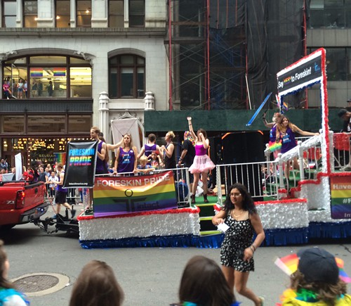 Stranger photo of NYC Foreskin Pride float